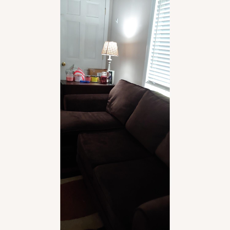 Bob's Discount Furniture Lindy Bobs DK Brn Sofa - image-2