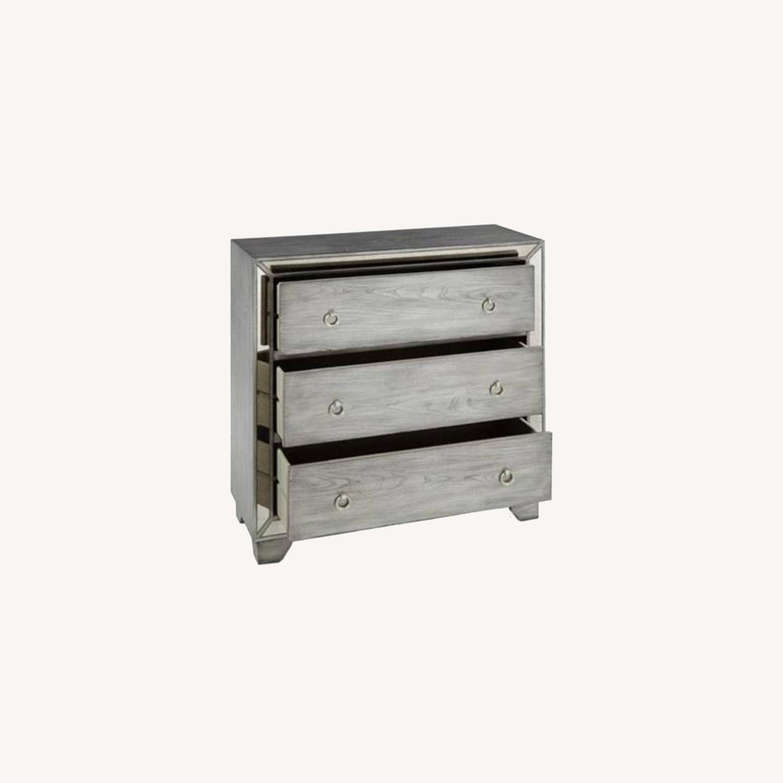 Macy's Grey Dresser with Mirrored Rim - image-0