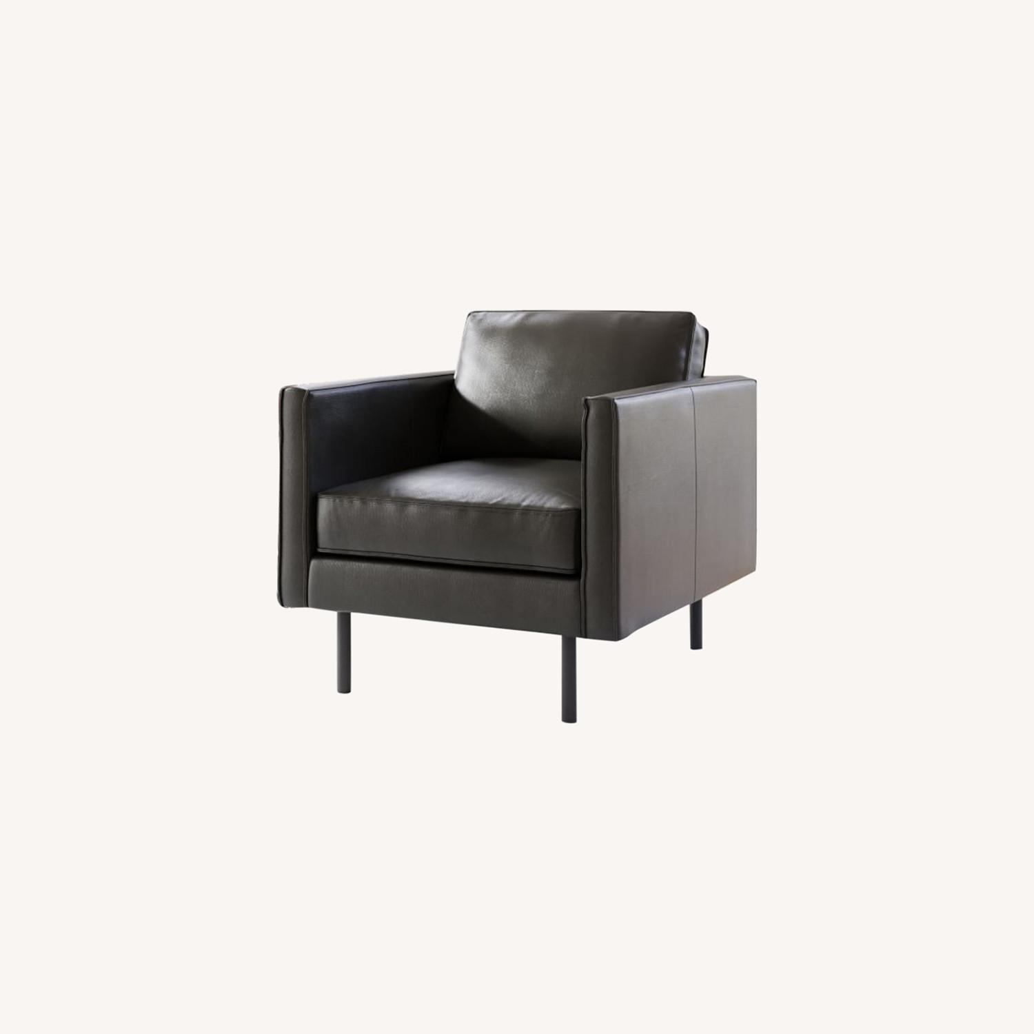 West Elm Axel Leather Armchair - image-0