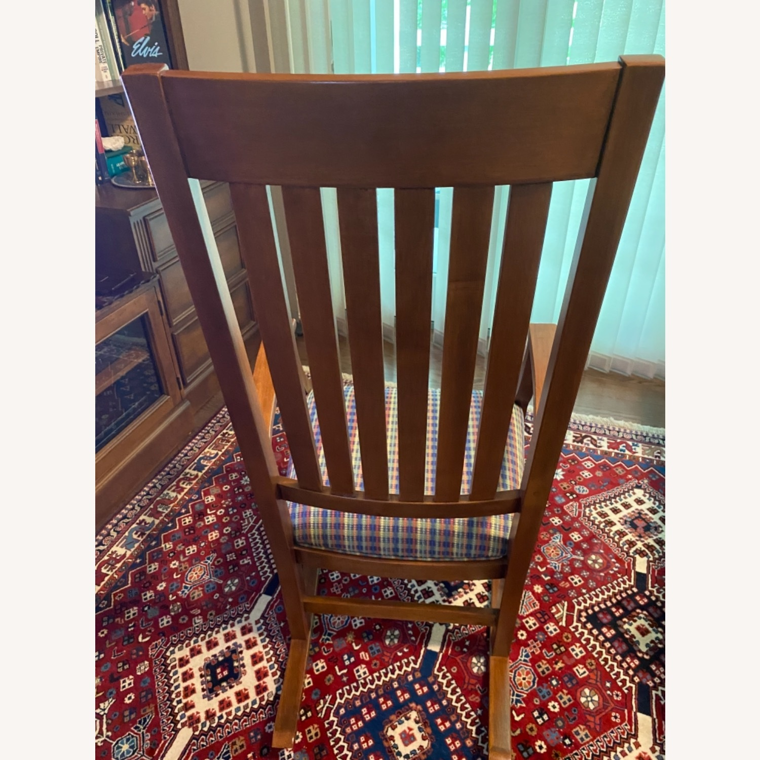 Ethan Allen Wood and cotton Fabric Chair - image-3