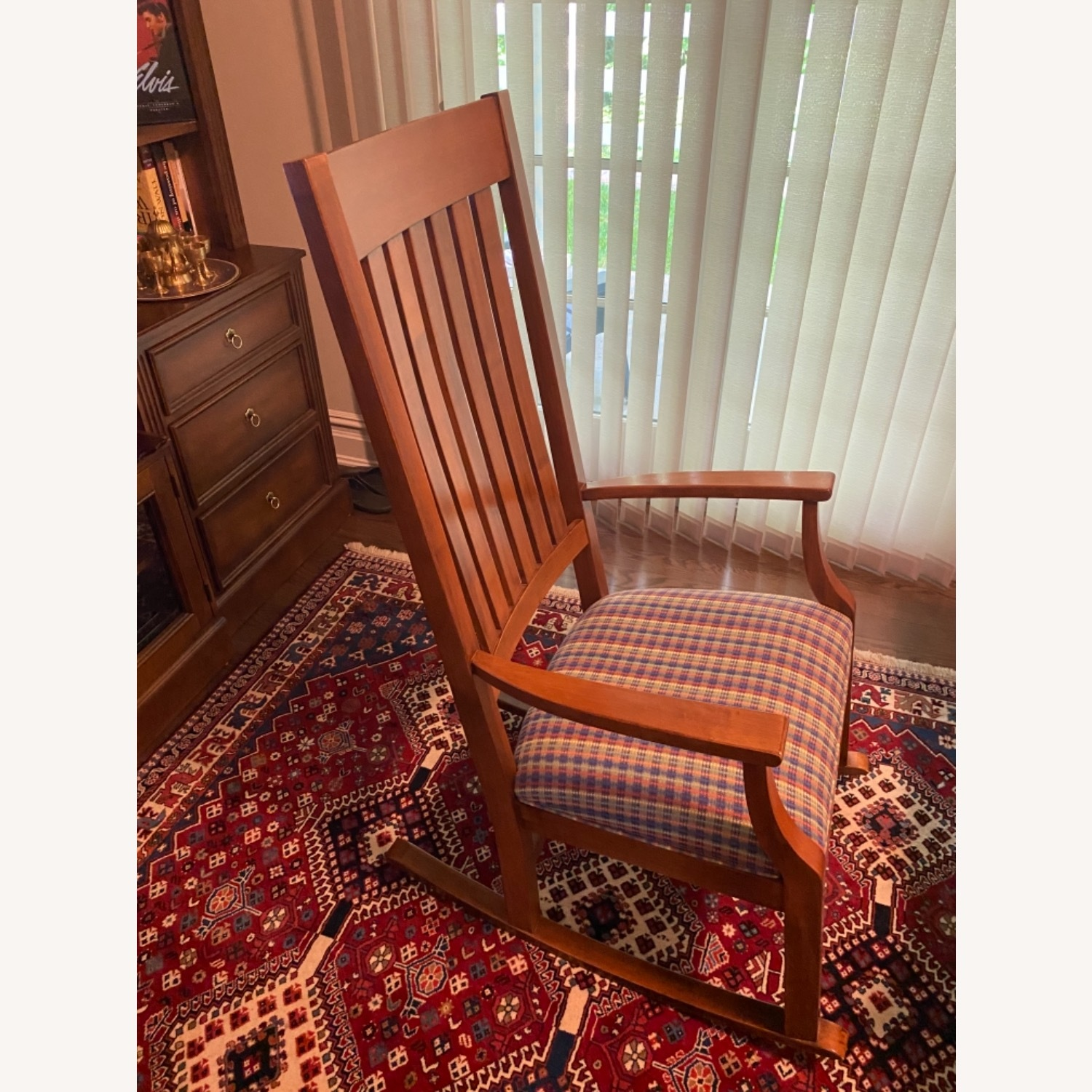 Ethan Allen Wood and cotton Fabric Chair - image-2