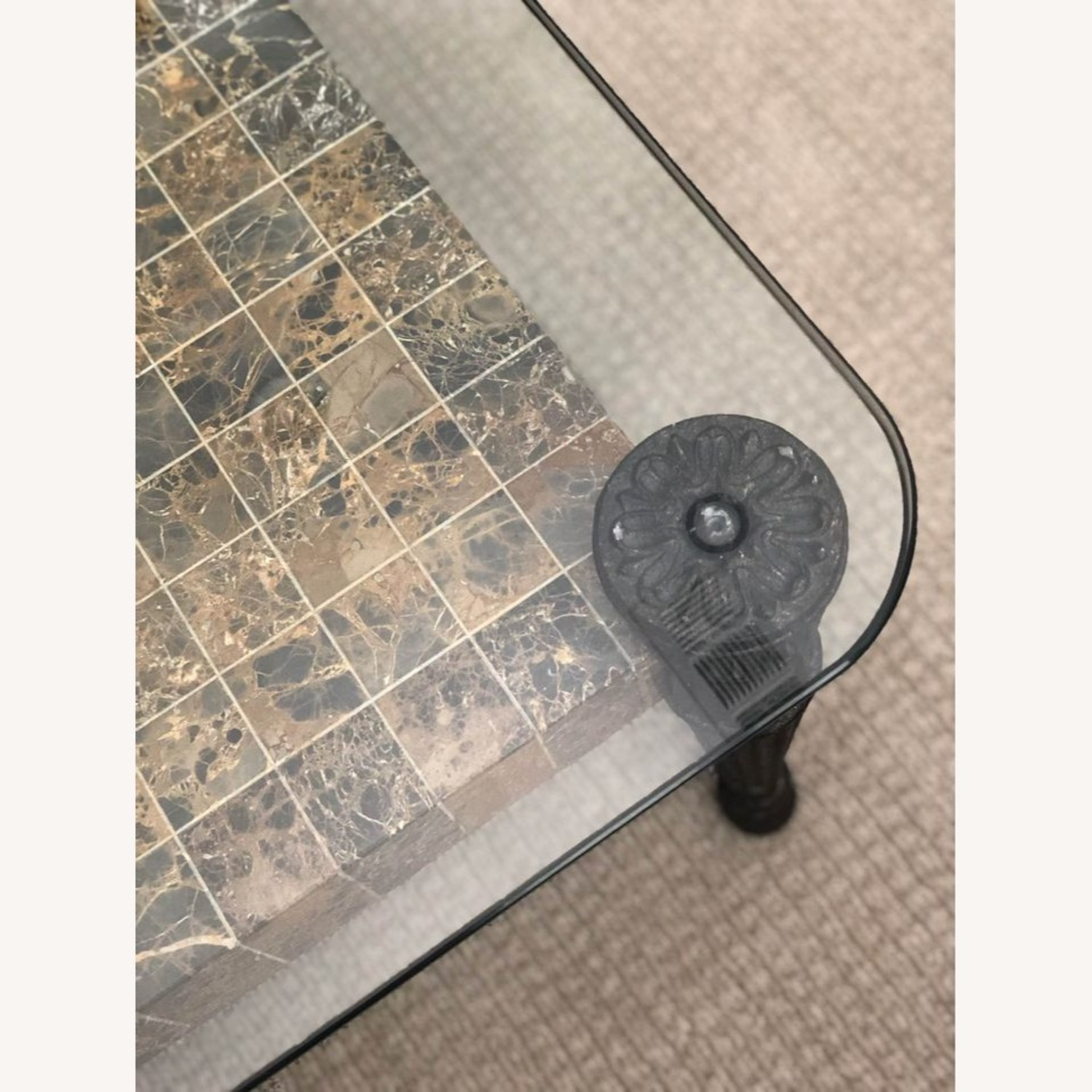 Glass Top + Marble Center Table - image-5