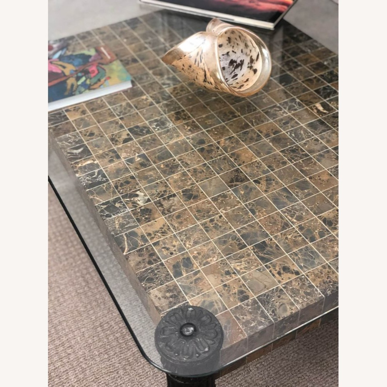 Glass Top + Marble Center Table - image-6