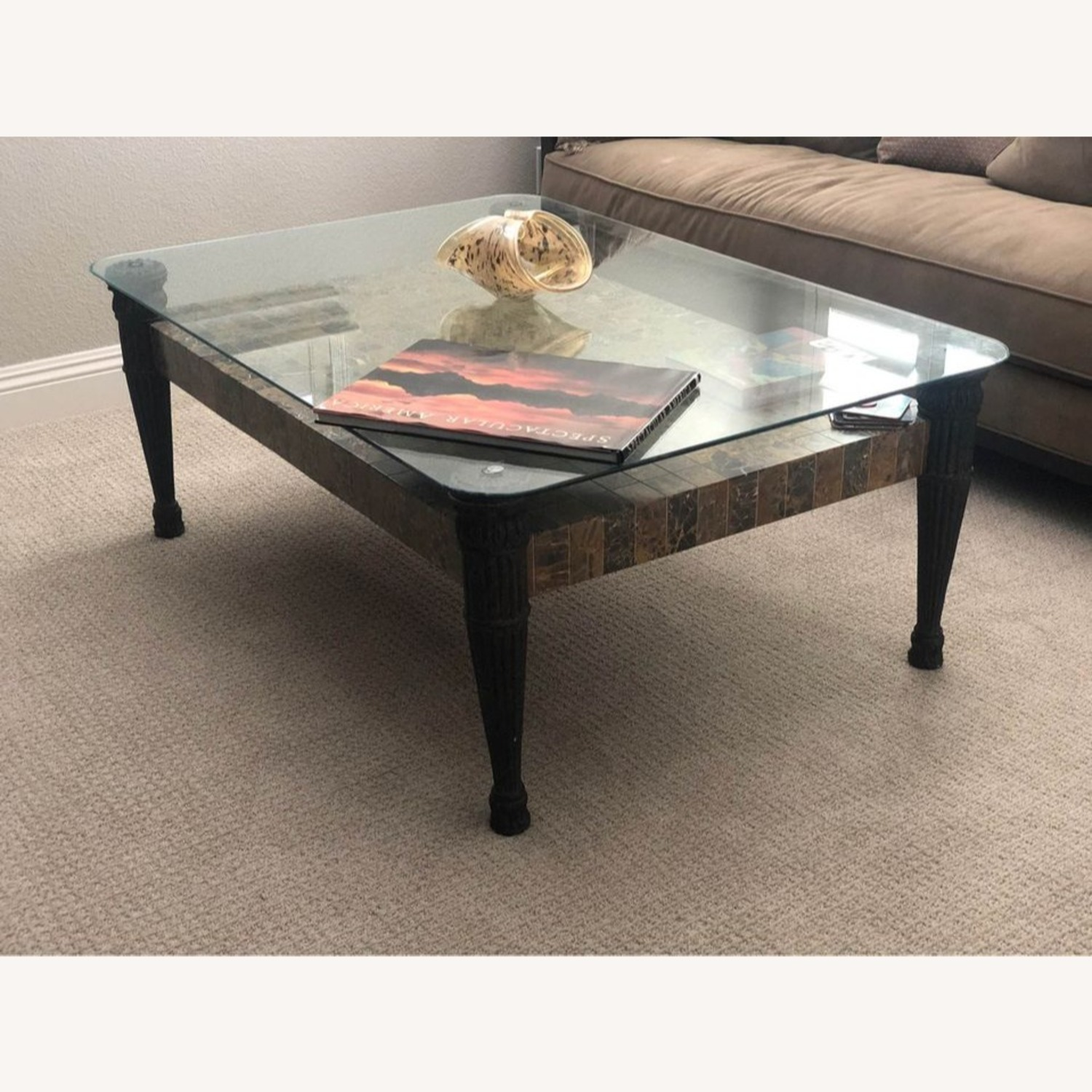 Glass Top + Marble Center Table - image-3