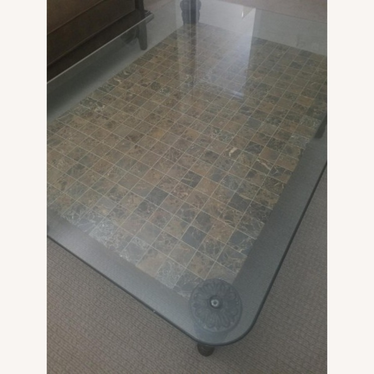 Glass Top + Marble Center Table - image-2