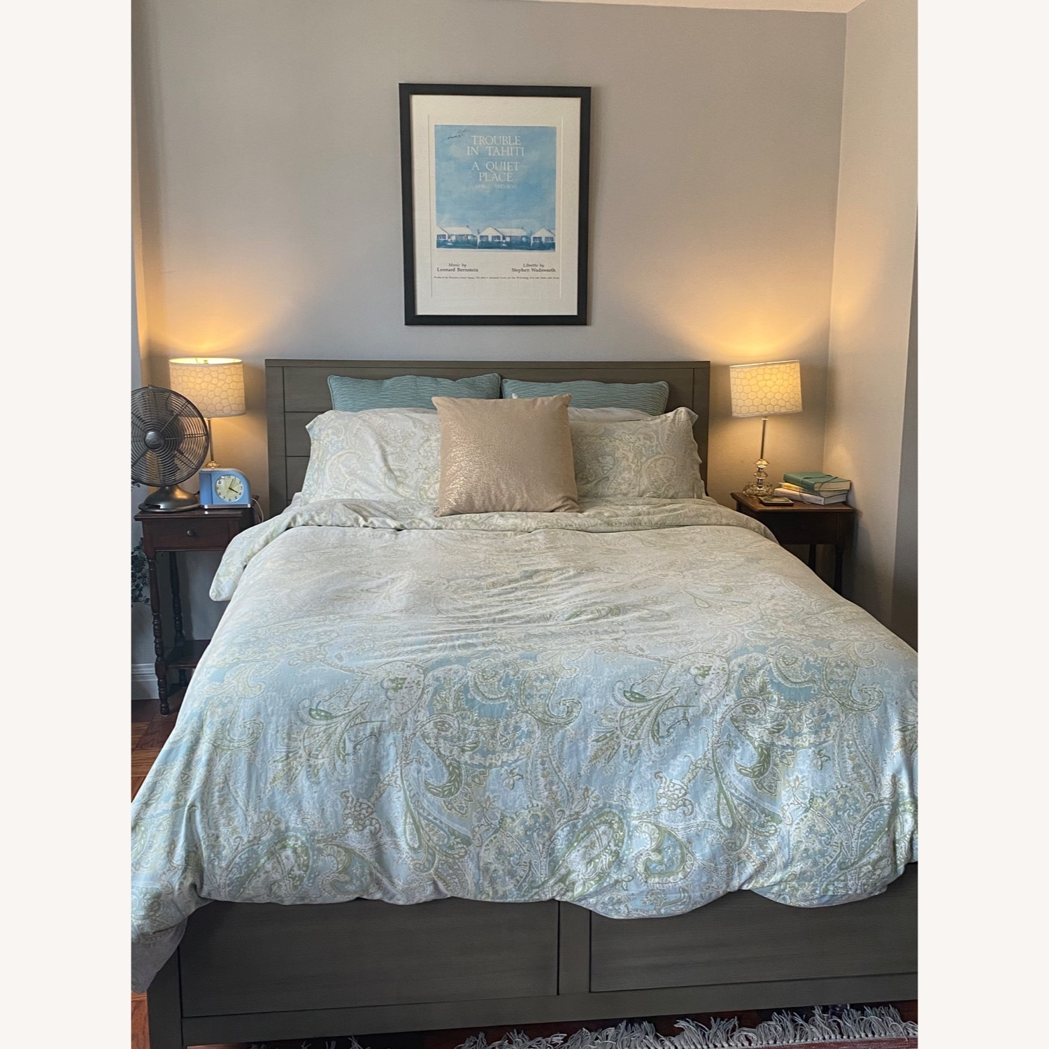 Macy's Queen Size Bed with Storage - image-1