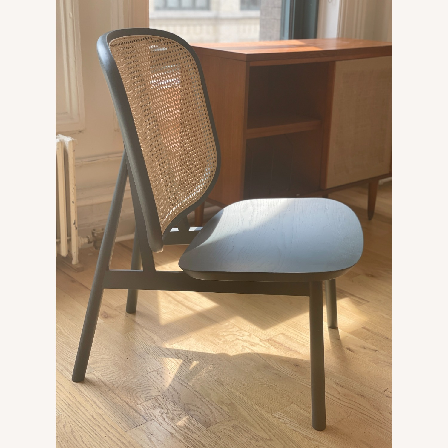Industry West Blue Caned Accent Chair - image-1