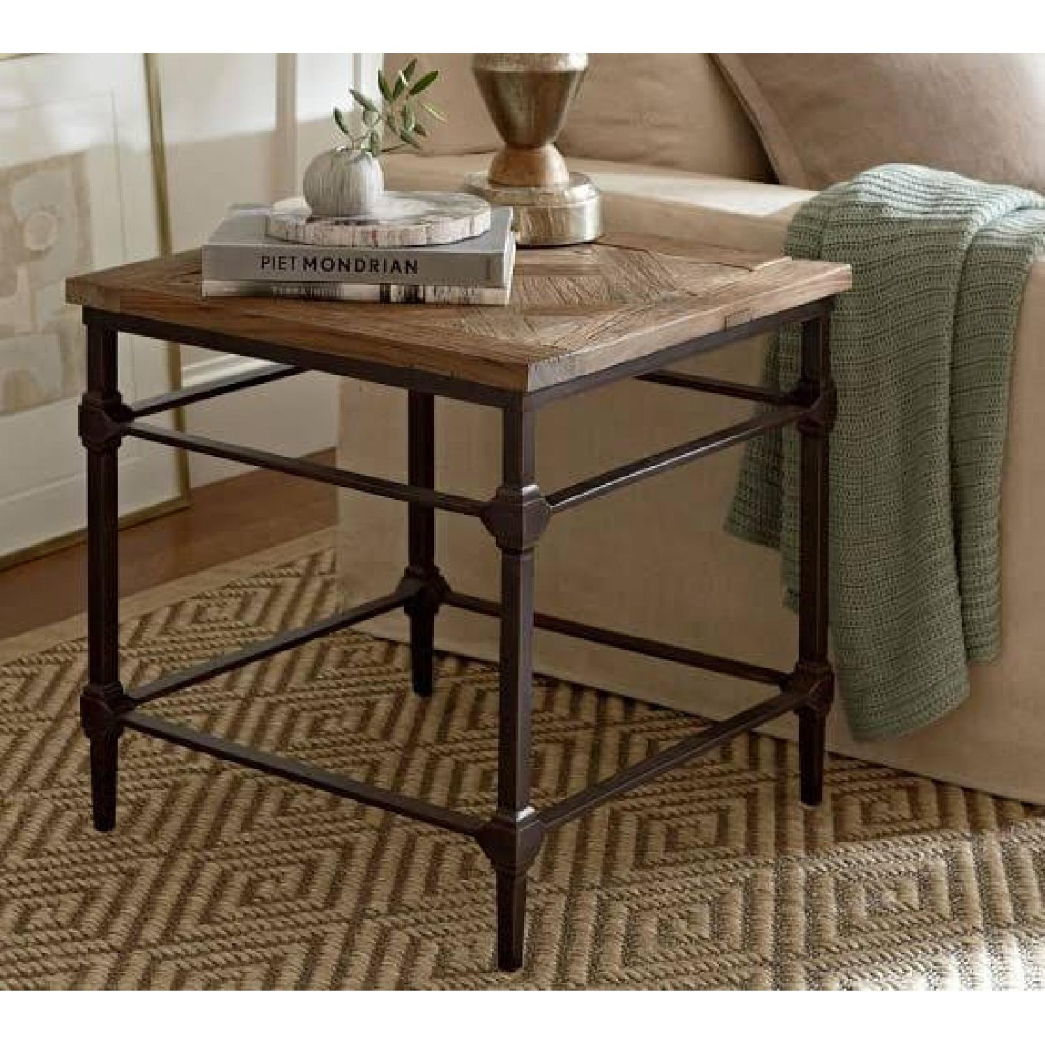 Pottery Barn Parquet End Table - image-0