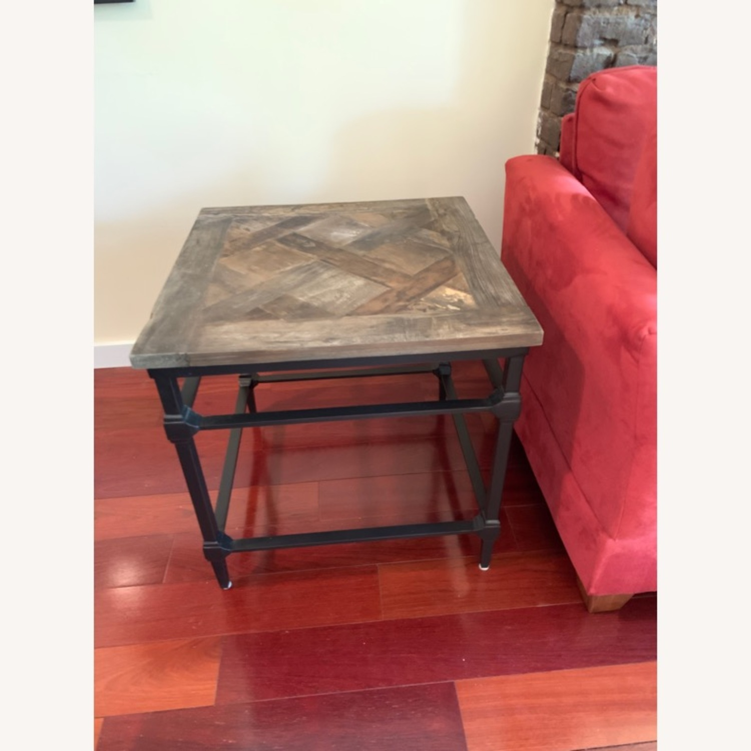 Pottery Barn Parquet End Table - image-1