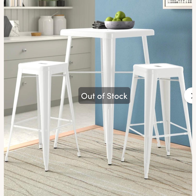 Zipcode Design White Metal 2-Person Dining Set - image-2