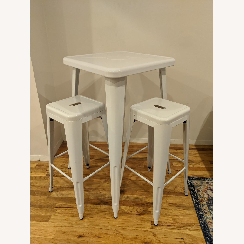 Zipcode Design White Metal 2-Person Dining Set - image-5