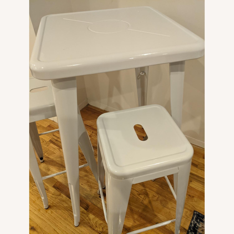 Zipcode Design White Metal 2-Person Dining Set - image-4