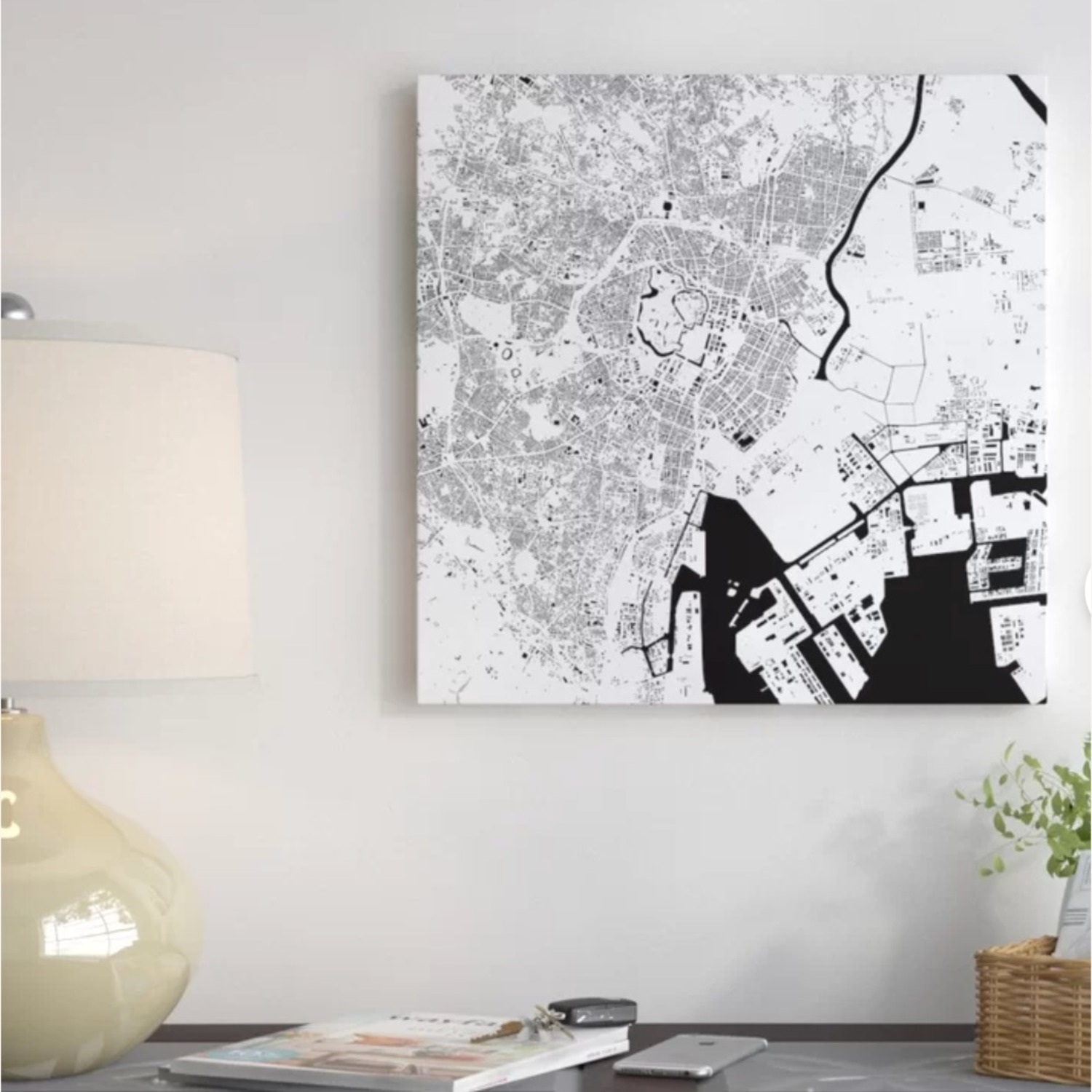 Tokyo Wrapped Canvas Graphic Art - image-1