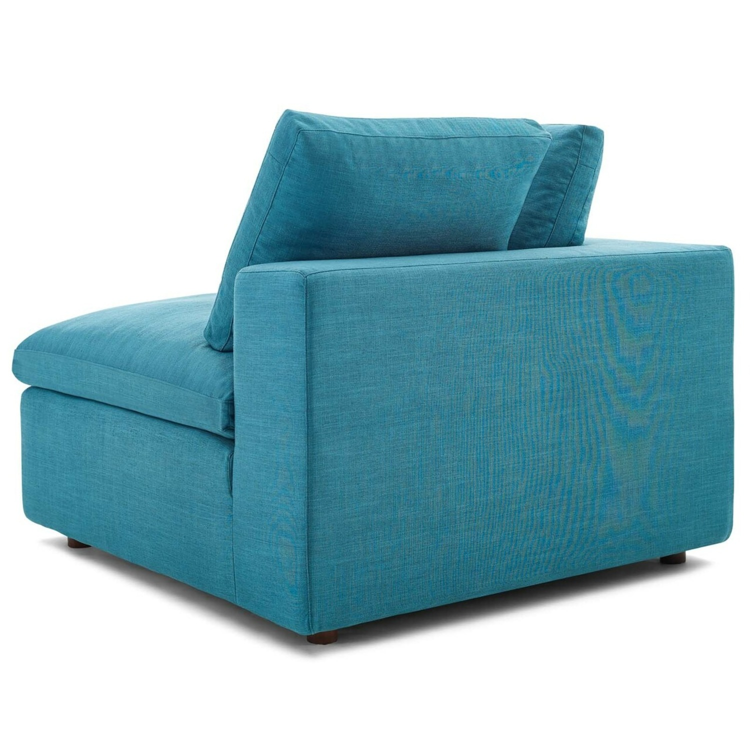 2-Piece Sectional Sofa In Teal Linen Fabric - image-3