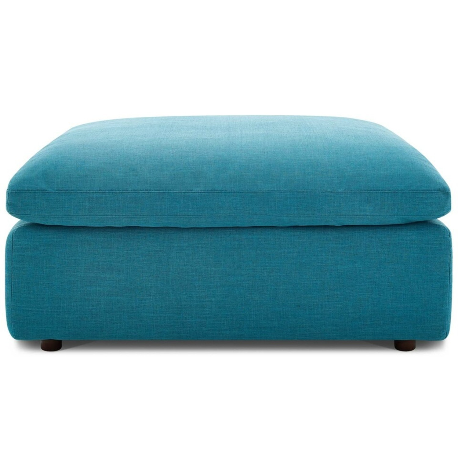 6-Piece Sectional Sofa In Teal Linen Fabric - image-7