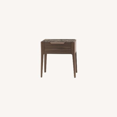 Used Nightwood NY Nightstand in Solid Oak Board and Ceramic Top for sale on AptDeco