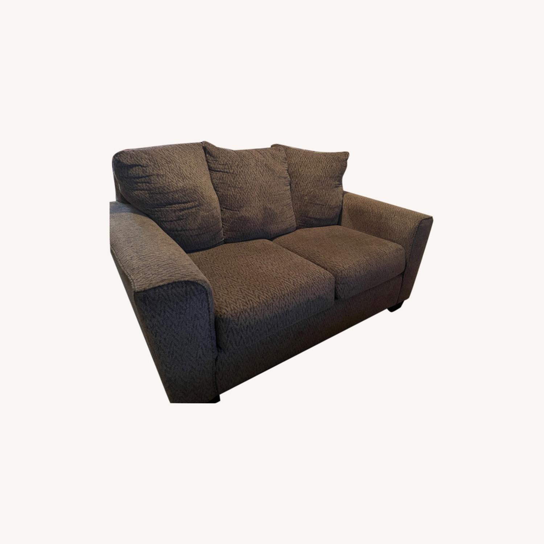 Ashley Furniture Brown Loveseat - image-0