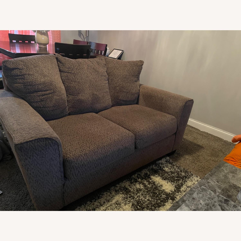 Ashley Furniture Brown Loveseat - image-2