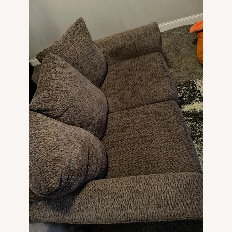 Ashley Furniture Brown Loveseat - image-1