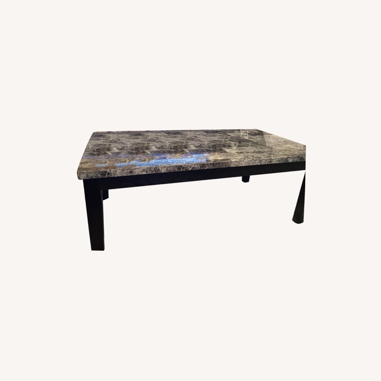 Ashley Furniture Dark Grey Marble Coffee Table - image-0