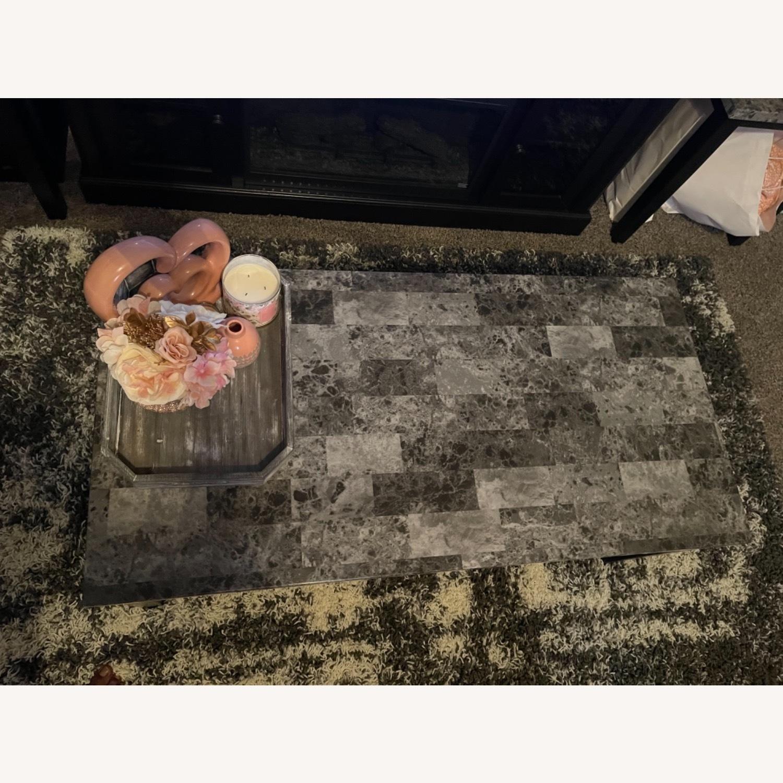 Ashley Furniture Dark Grey Marble Coffee Table - image-1