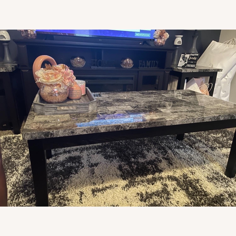 Ashley Furniture Dark Grey Marble Coffee Table - image-2