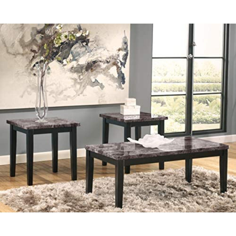 Ashley Furniture Dark Grey Marble End Tables - image-4