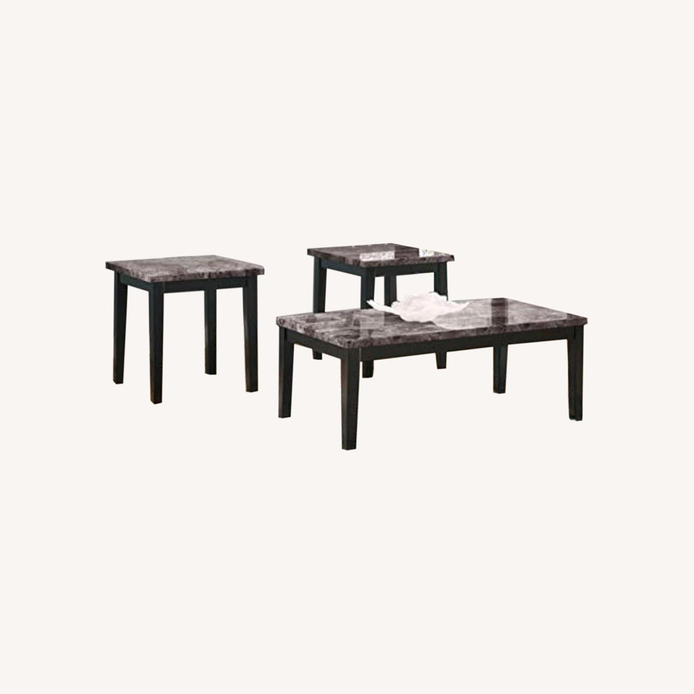 Ashley Furniture Dark Grey Marble End Tables - image-0