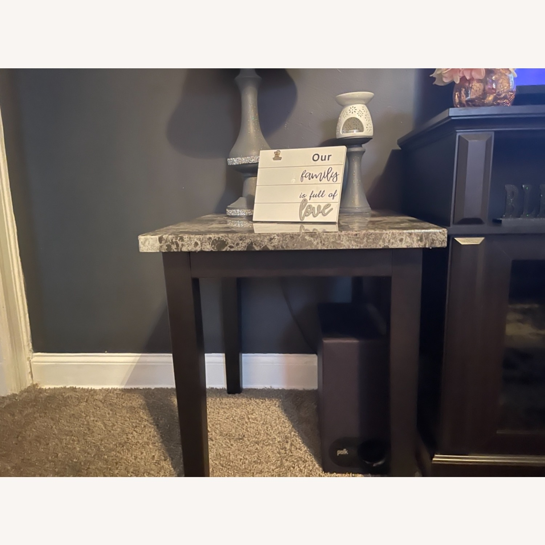 Ashley Furniture Dark Grey Marble End Tables - image-2