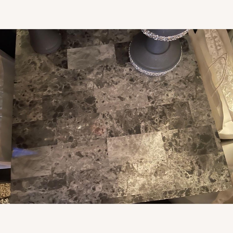 Ashley Furniture Dark Grey Marble End Tables - image-1