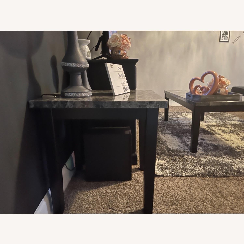 Ashley Furniture Dark Grey Marble End Tables - image-3