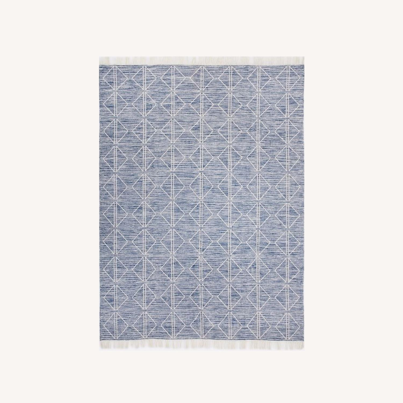 West Elm Blue Diamonds Indoor/Outdoor Rug - image-0