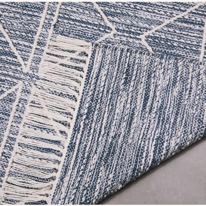 West Elm Blue Diamonds Indoor/Outdoor Rug - image-3