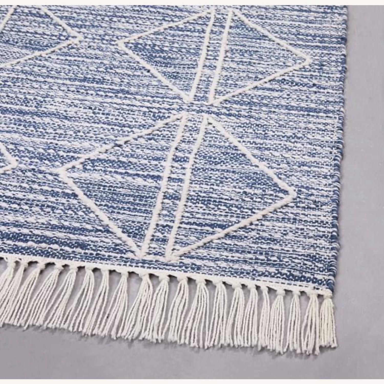 West Elm Blue Diamonds Indoor/Outdoor Rug - image-2
