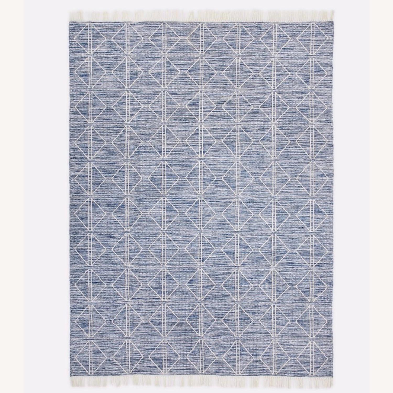 West Elm Blue Diamonds Indoor/Outdoor Rug - image-1