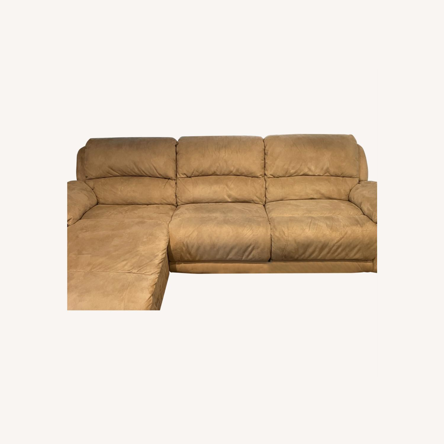 Raymour & Flanigan Reclining Sofa with Chaise - image-0