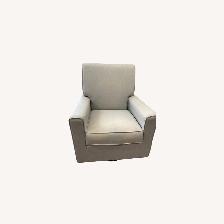 Glider Swivel Rocker Chair, Heather Grey - image-0
