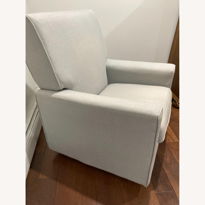 Glider Swivel Rocker Chair, Heather Grey - image-4