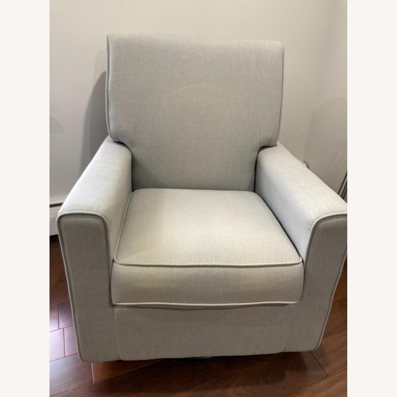 Glider Swivel Rocker Chair, Heather Grey - image-1