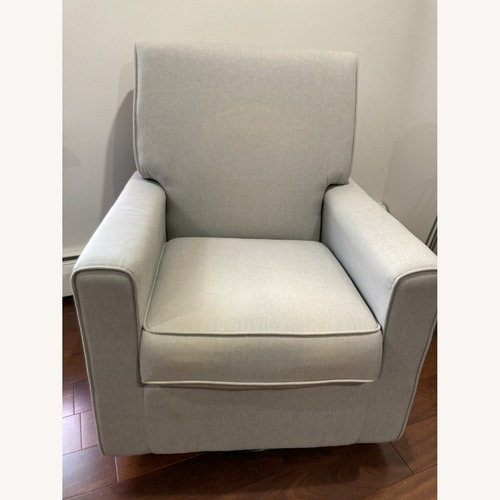 Used Glider Swivel Rocker Chair, Heather Grey for sale on AptDeco