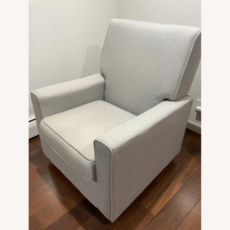 Glider Swivel Rocker Chair, Heather Grey - image-2