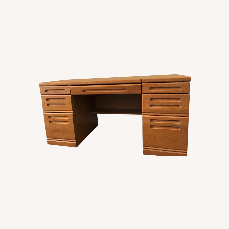 Palliser DeFehr Custom Double Pedestal Desk - image-0