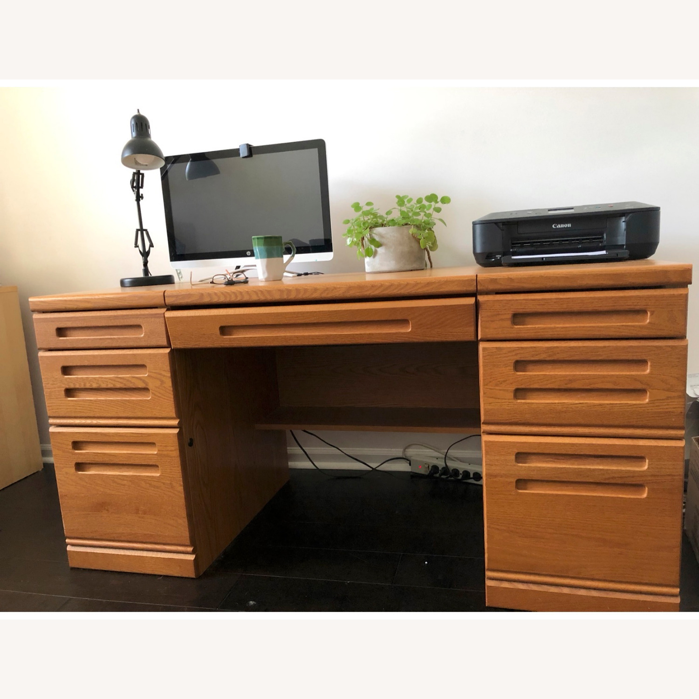 Palliser DeFehr Custom Double Pedestal Desk - image-1
