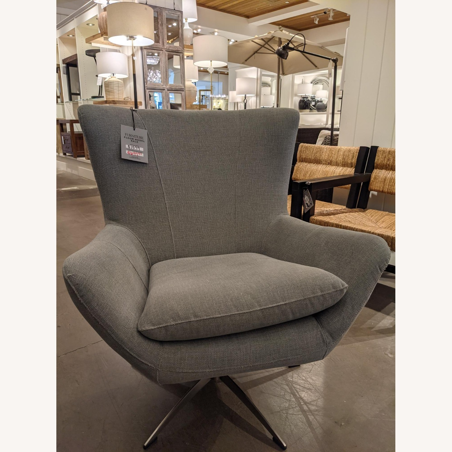 Pottery Barn Wells Tight Back Petite Armchair - image-2