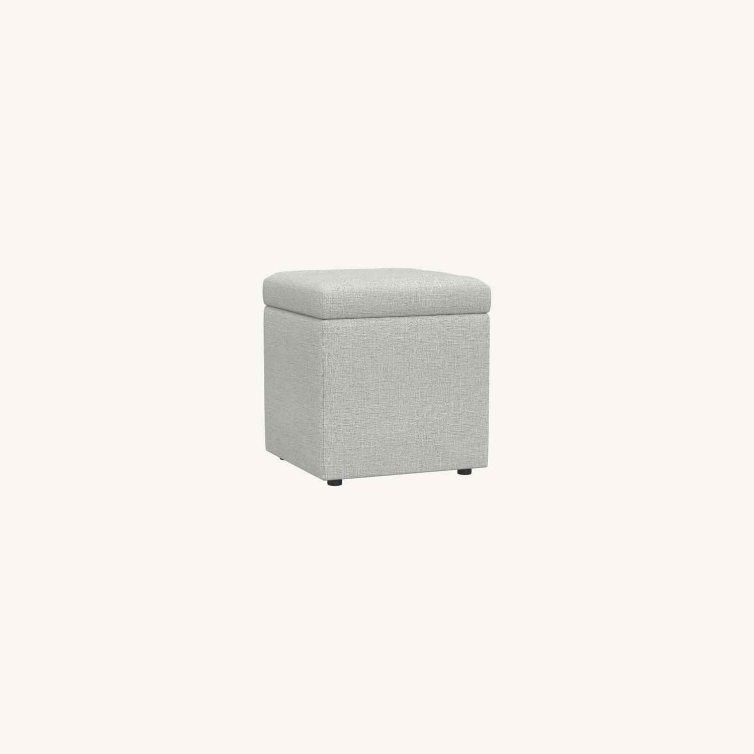 Pottery Barn Marlow Upholstered Storage Cube - image-0