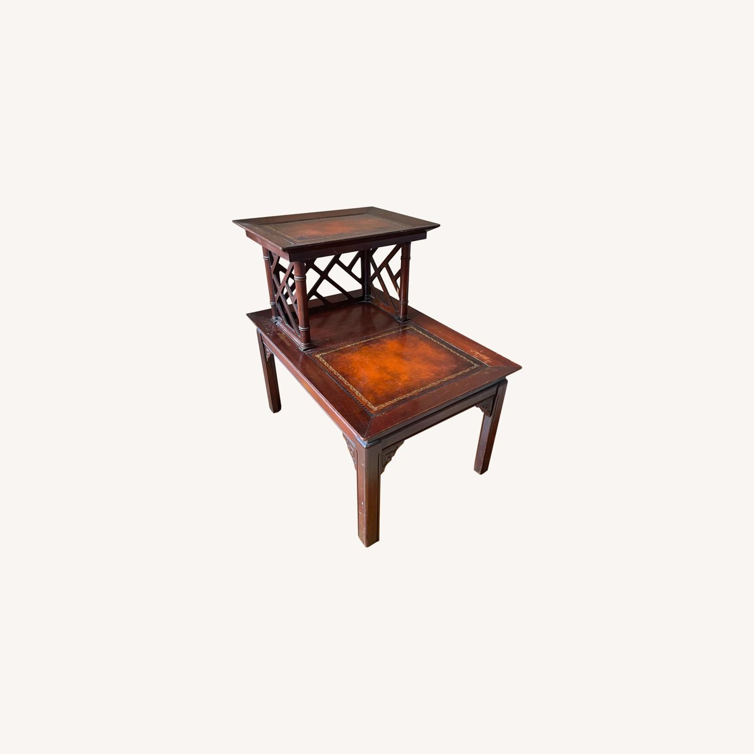Vintage Two-Tiered Side Table - image-0
