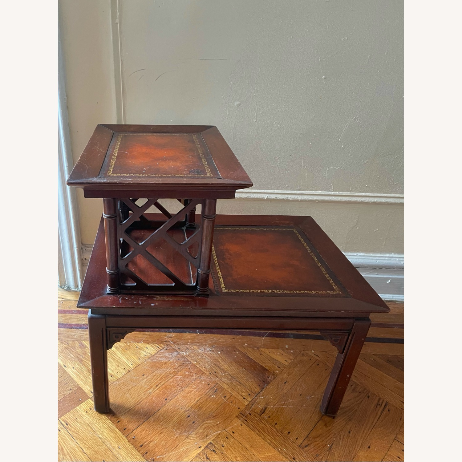 Vintage Two-Tiered Side Table - image-3