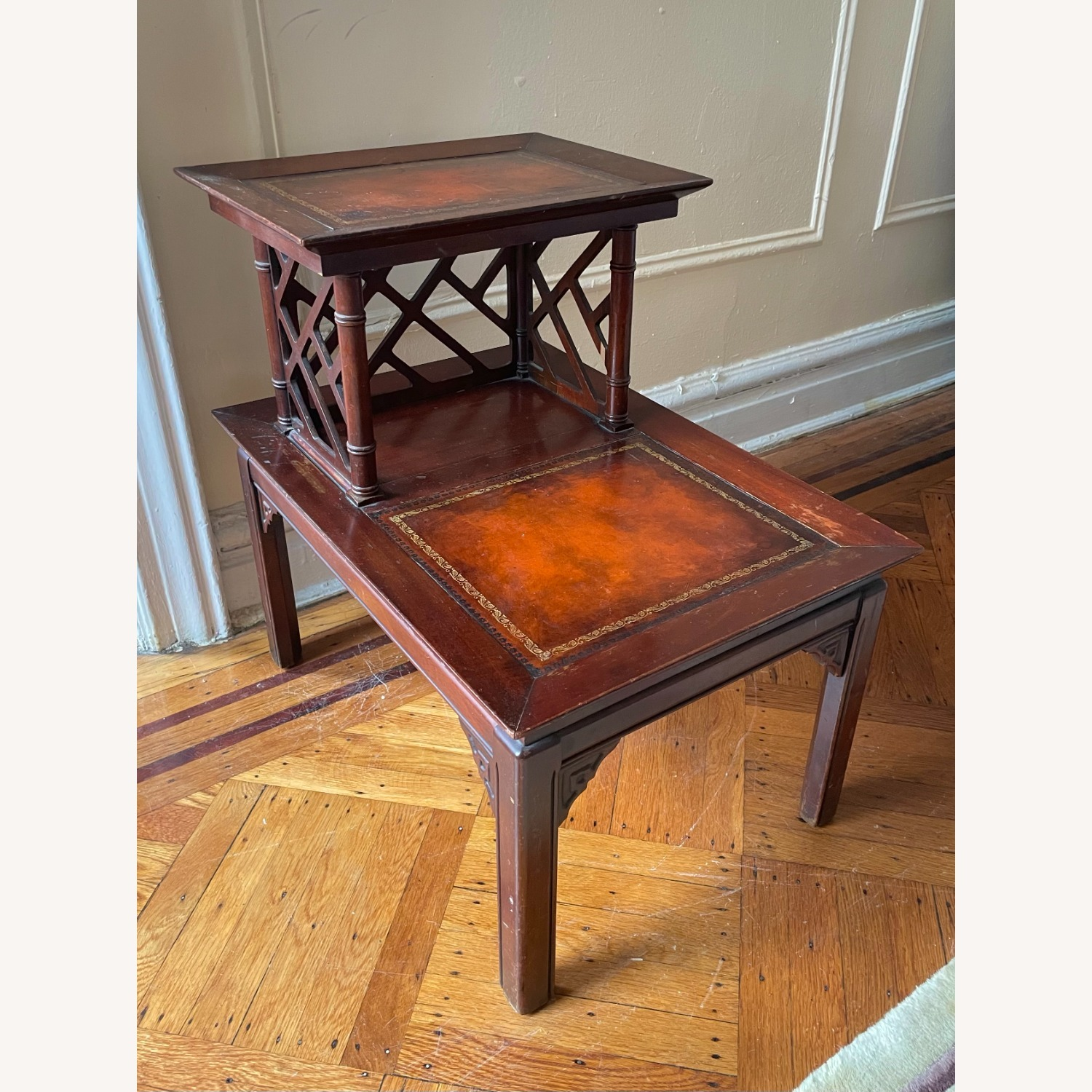 Vintage Two-Tiered Side Table - image-1