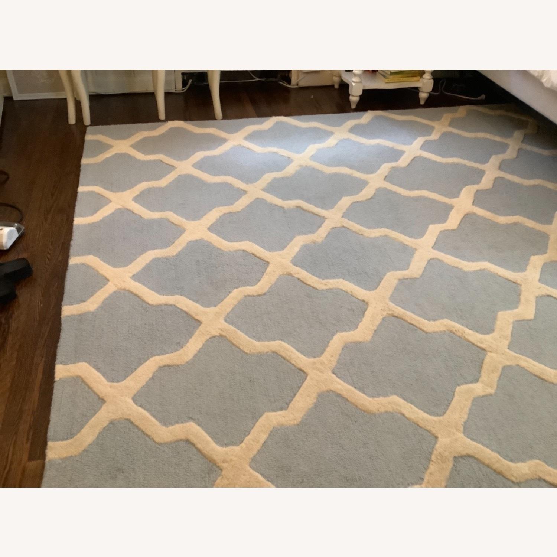 Safavieh Cambridge Blue & Cream Wool Rug 8x10 - image-0