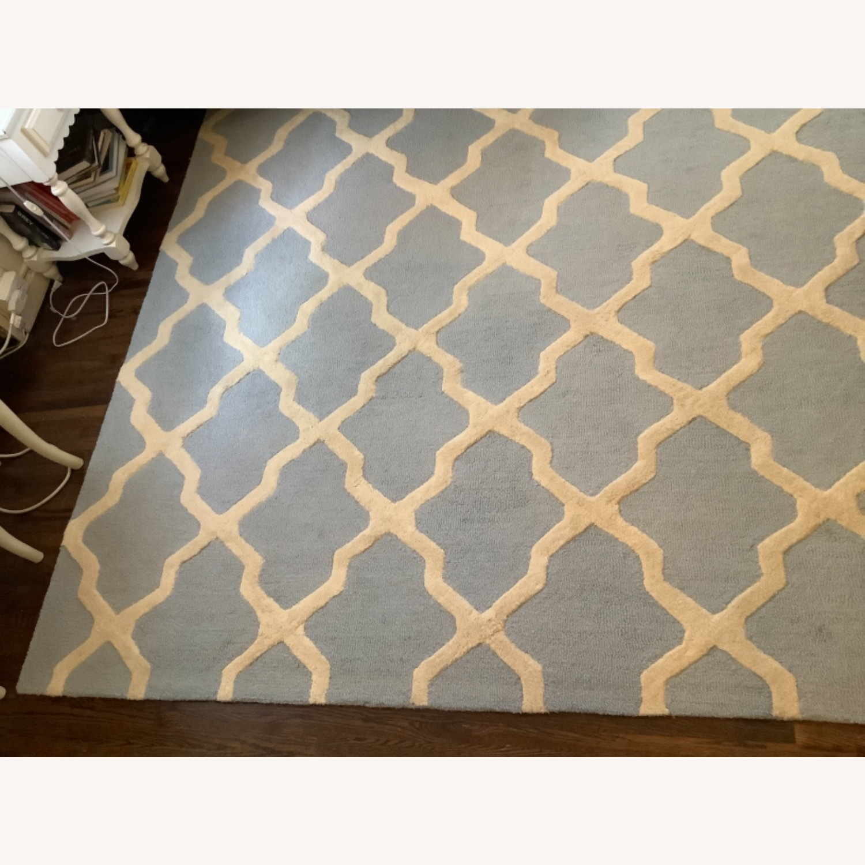 Safavieh Cambridge Blue & Cream Wool Rug 8x10 - image-1